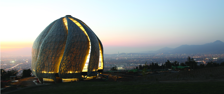 The Bahá'í Temple in Santiago, Chile
