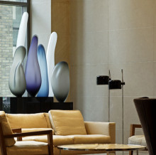 One Bedford Condo Lobby - Glass Sculptures